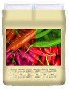Chili Pepper 2014 Calendar Duvet Cover