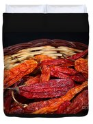 Chilis In A Basket Duvet Cover