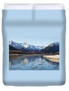 Chilkat River Freeze Up Duvet Cover