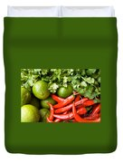 Chillies And Limes Duvet Cover