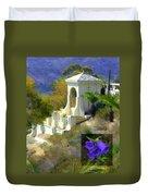 Chimes Tower Bell Flower Duvet Cover