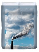 Chimney Exhaust Waste Amount Of Co2 Into The Atmosphere Duvet Cover by Ulrich Schade