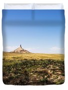 Chimney Rock - Bayard Nebraska Duvet Cover
