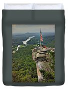 Chimney Rock Overlook Duvet Cover