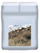 Chimney Rock Rams Duvet Cover