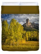 Chimney Rock San Juan Nf Colorado Img 9722 Duvet Cover