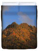 Chimney Tops In Smoky Mountains Duvet Cover