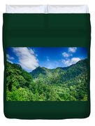 Chimney Tops Mountain In Great Smoky Mountains  Duvet Cover