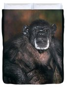 Chimpanzee Portrait Endangered Species Wildlife Rescue Duvet Cover