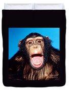 Chimpanzee Portrait Duvet Cover