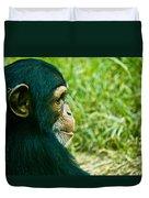Chimpanzee Profile Duvet Cover