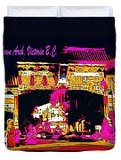 China Town Arch Victoria British Columbia Canada Duvet Cover