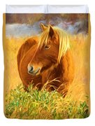 Chincoteague Pony Profile Duvet Cover