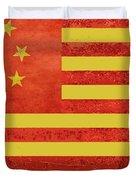 Chinese American Flag Duvet Cover