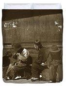 Chinese Cobbler San Francisco California Chinatown Circa 1900 Duvet Cover