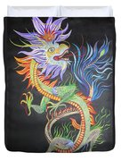 Chinese Fire Dragon Duvet Cover