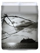 Approaching Cochin Duvet Cover