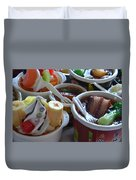 Chinese Food Miniatures 3 Duvet Cover