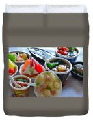 Chinese Food Miniatures 4 Duvet Cover