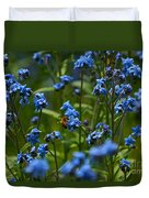 Chinese Forget Me Nots And Honey Bee Duvet Cover