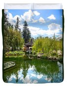 Chinese Garden And Sky Duvet Cover