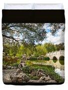 Chinese Garden Bridge Duvet Cover