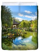 Chinese Garden Lake Duvet Cover