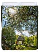 Chinese Garden Sun Duvet Cover
