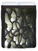 Chinese Garden Window Duvet Cover