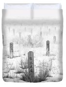Chinese Grave Markers Duvet Cover