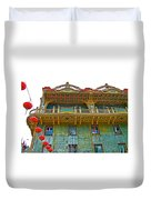 Chinese Lanterns In Chinatown In San Francisco-california  Duvet Cover