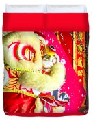 Chinese Lion Head Duvet Cover