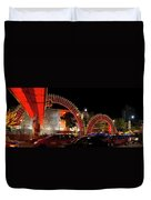 Chinese New Year 2012 Dragon Sculpture Decoration Panorama Duvet Cover