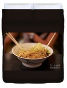 Chinese Noodle Dish Duvet Cover