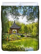 Chinese Pagoda Duvet Cover