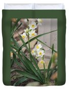 Chinese Sacred Lily Duvet Cover