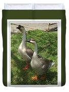 Chinese Swan Goose Pair 2 Duvet Cover