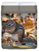 Chipmunk Hungry Duvet Cover