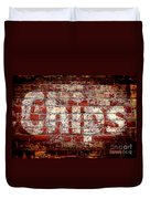 Chips Brick Wall Duvet Cover