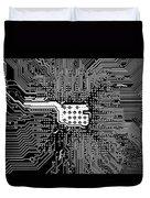 Chipset Black And White Duvet Cover