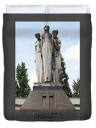 Chisletti Bonelli Memorial Front View Monumental Cemetery Milan Duvet Cover