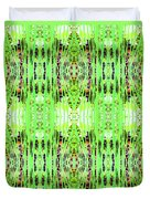 Chive Abstract Green Duvet Cover