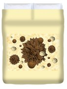 Chocolate Asteroids Duvet Cover