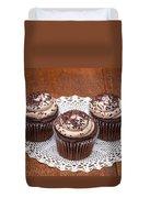 Chocolate Caramel Cupcakes Duvet Cover