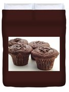 Chocolate Chocolate Chip Muffins - Bakery - Breakfast Duvet Cover