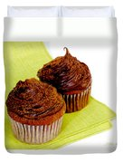 Chocolate Cupcakes Duvet Cover