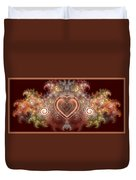 Chocolate Heart Duvet Cover