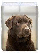 Chocolate Labrador Duvet Cover