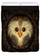 Chocolate Nested Easter Owl Duvet Cover