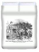 Cholera Cartoon, 1858 Duvet Cover